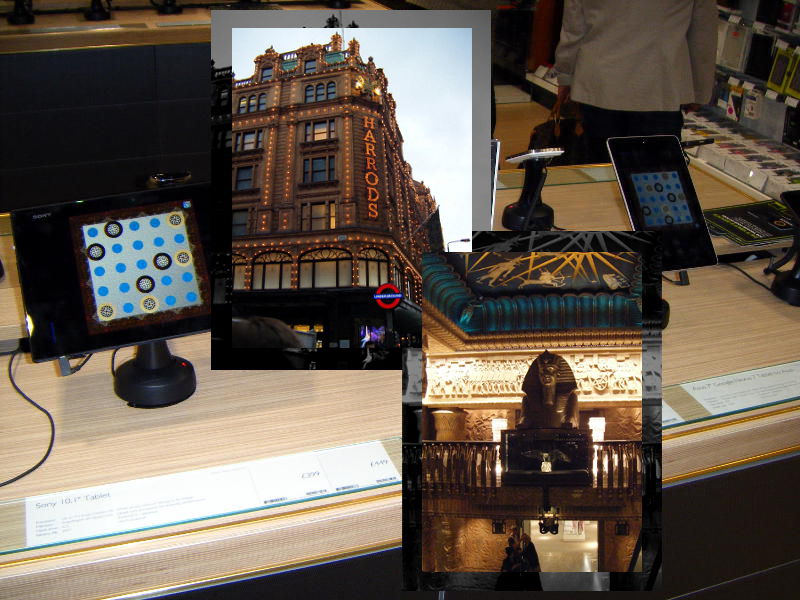 Mondrago at Harrods in London's Knightsbridge-Sony and Google Nexus
